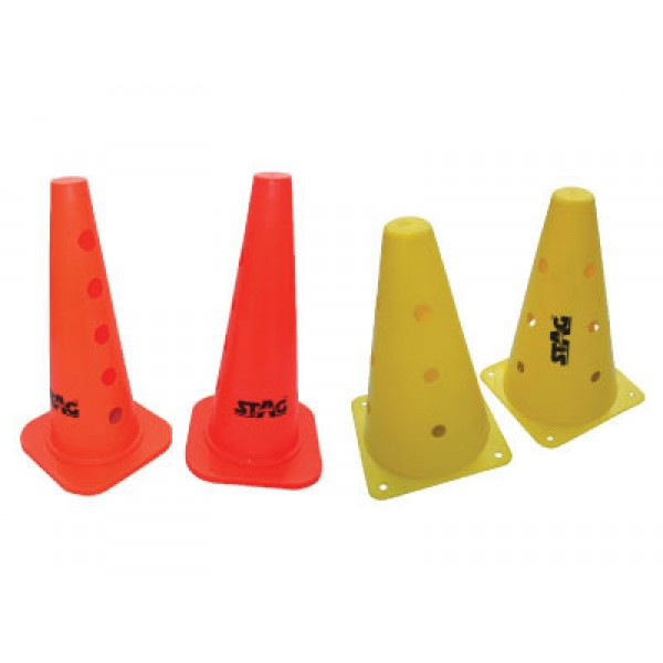 "STAG Marker Cones with Holes 15"" (Set of 5)"