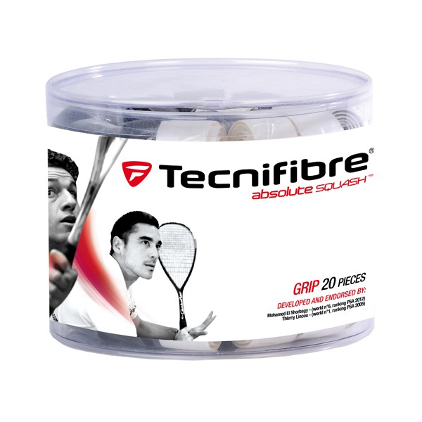 Tecnifibre Absolute Squash 2012 Box Of 20 Synthetic Grips