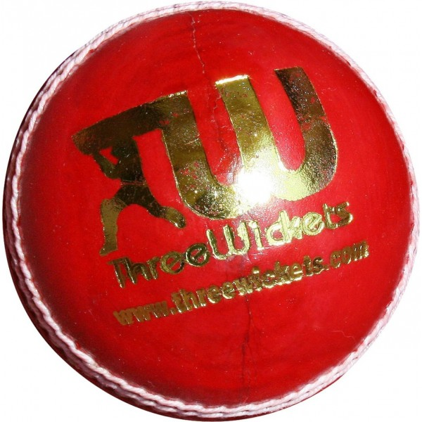 Three Wickets Jaguar Cricket Ball (Red)
