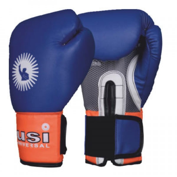 USI 609CPU Crusher Boxing Training Gloves (Blue/Orange)