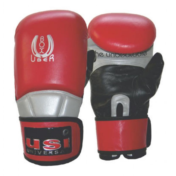 USI 617MPU Boxuber Heavy Bag Boxing Gloves (Red/Black/Silver)