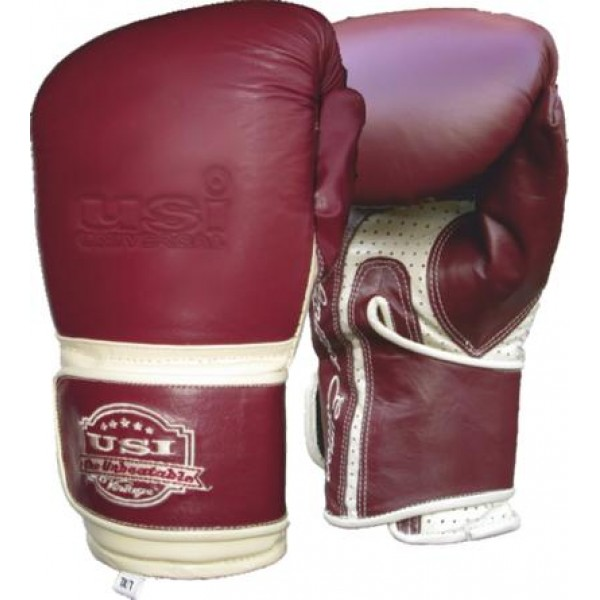 USI 617SP Vintage Heavy Bag Boxing Gloves (Maroon/White)