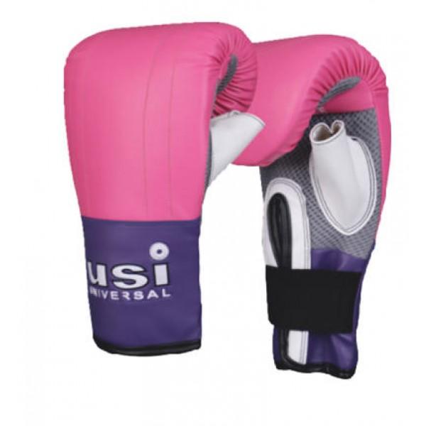 USI 617LHB Crusher Bag Boxing Gloves (Pink/Purple)