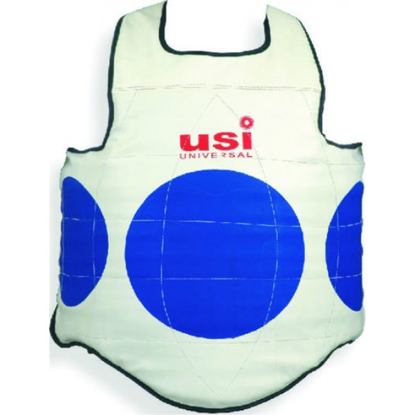 USI 770K Korean Taekwondo Chest Guard (White/Blue)