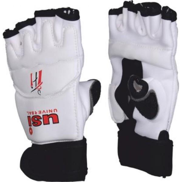 USI 770TG Taekwondo Gloves (White/Black)