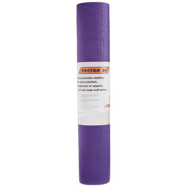 Vector X PVC Yoga Mat 6 mm (Purple)