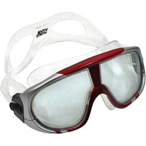 Viva Sports Viva 400 Diving Mask Swimming Goggles (Red/Silver)