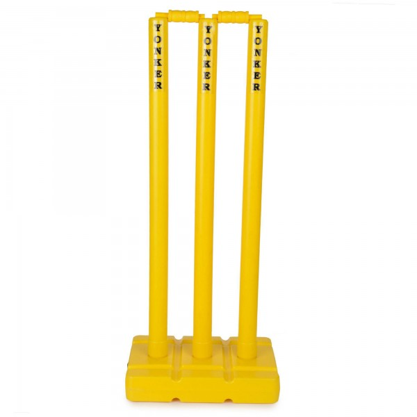 Yonker Plastic Wicket Set (3 Wickets and 1 Base)