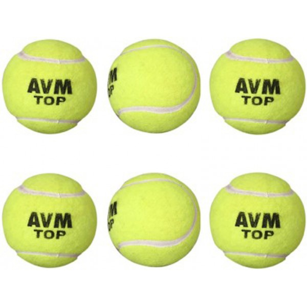 AVM Top Cricket Tennis Ball (Pack of 6)