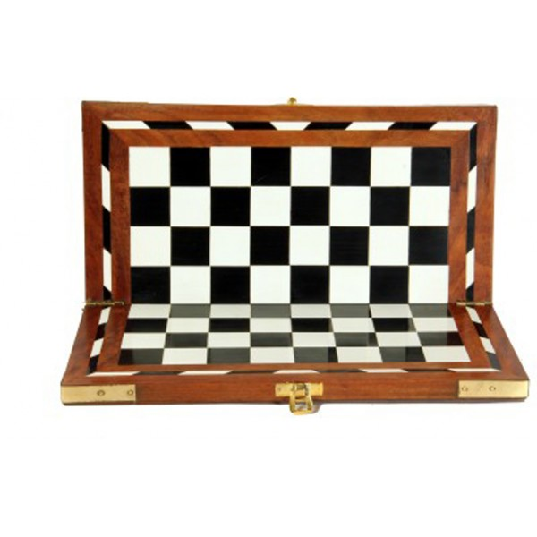 "AVM 12"" Acrylic Folding Chess Board without Coins"
