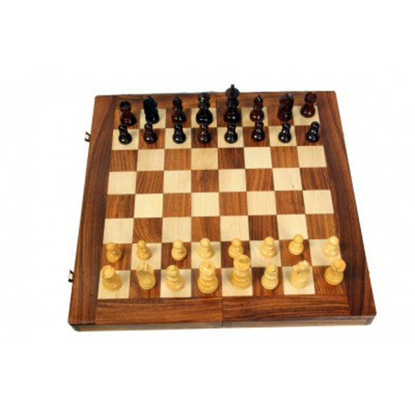 "AVM 16"" Folding Chess Set with Coins"