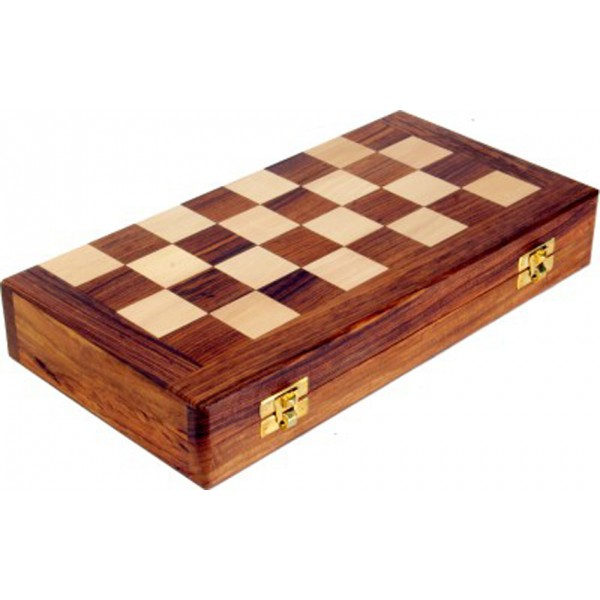"AVM 14"" Folding Chess Set with Coins"