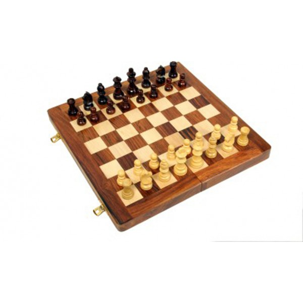 "AVM 12"" Folding Chess Set with Coins"