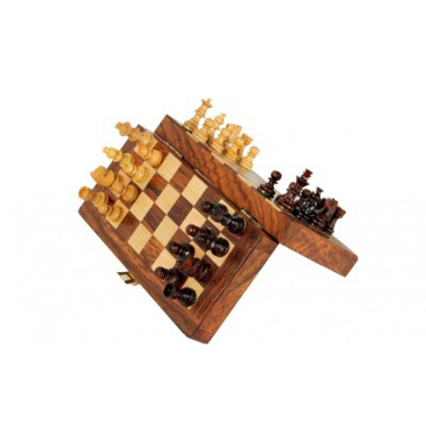 "AVM 7"" Magnetic Folding Chess Set with Coins"