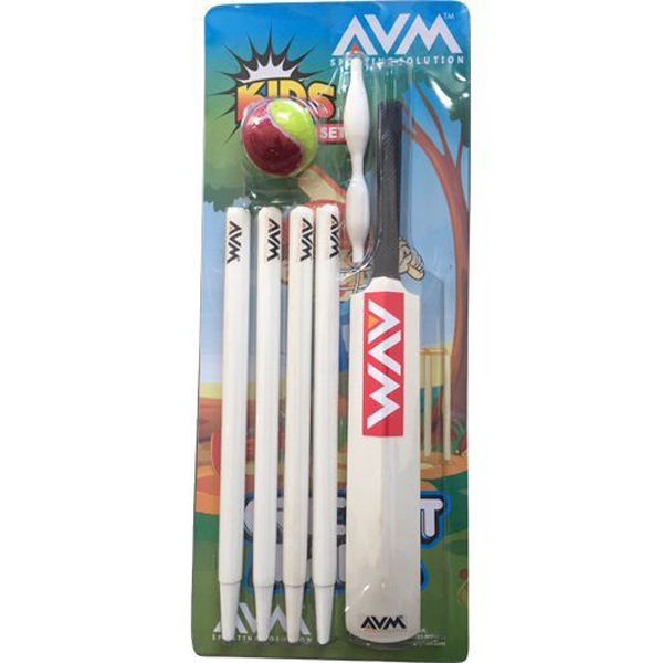 AVM Kids Cricket Set (Pack of 4 Pcs without Base)