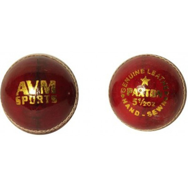 AVM Paxton Red Cricket Ball (Pack of 2)