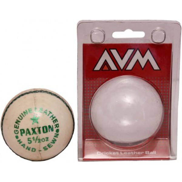 AVM Paxton White Cricket Ball