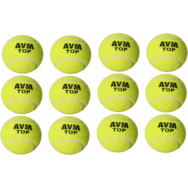 AVM Top Cricket Tennis Ball (Pack of 12)