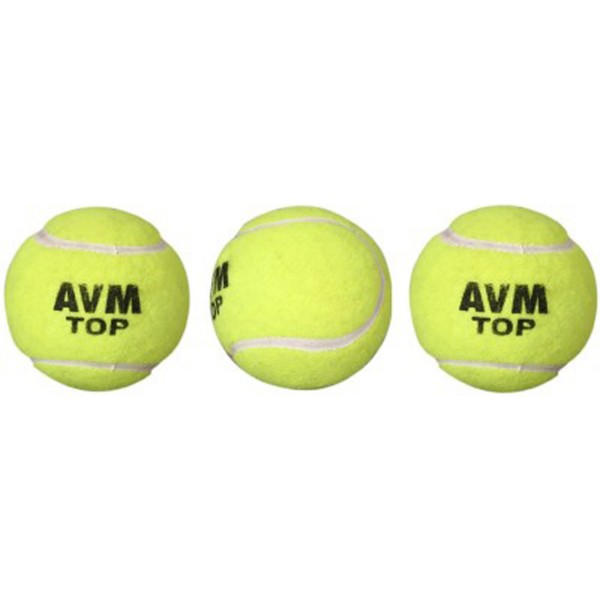 AVM Top Cricket Tennis Ball (Pack of 3)