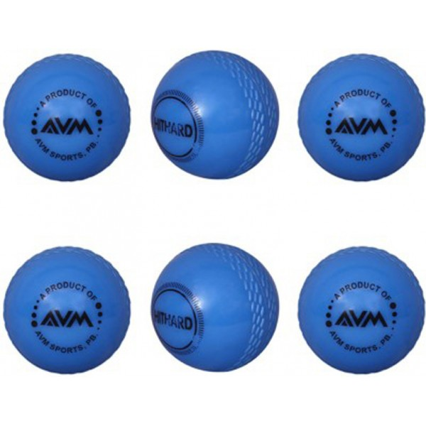 AVM Blue Wind Cricket Ball (Pack of 6)