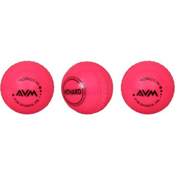 AVM Red Wind Cricket Ball (Pack of 3)