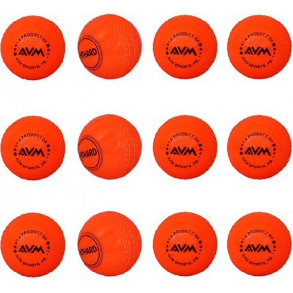 AVM Orange Wind Cricket Ball (Pack of 12)