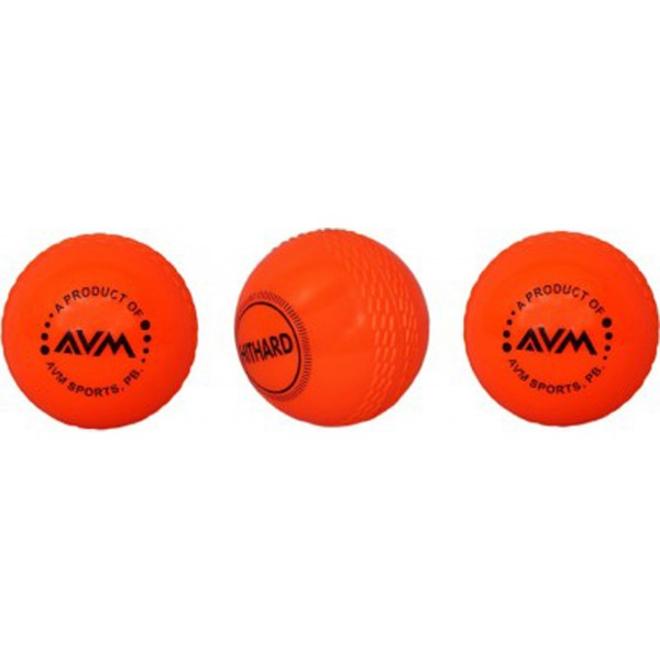 AVM Orange Wind Cricket Ball (Pack of 3)