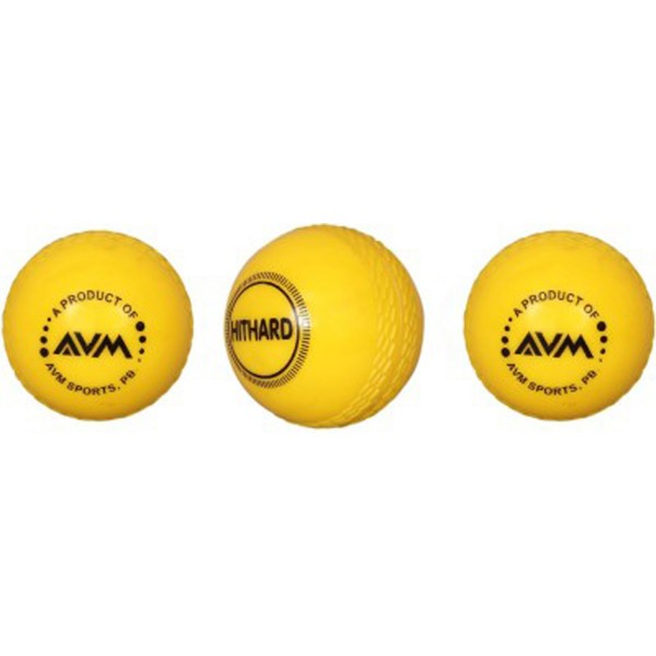 AVM Yellow Wind Cricket Ball (Pack of 3)