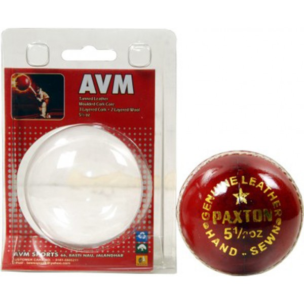AVM Paxton Red Cricket Ball