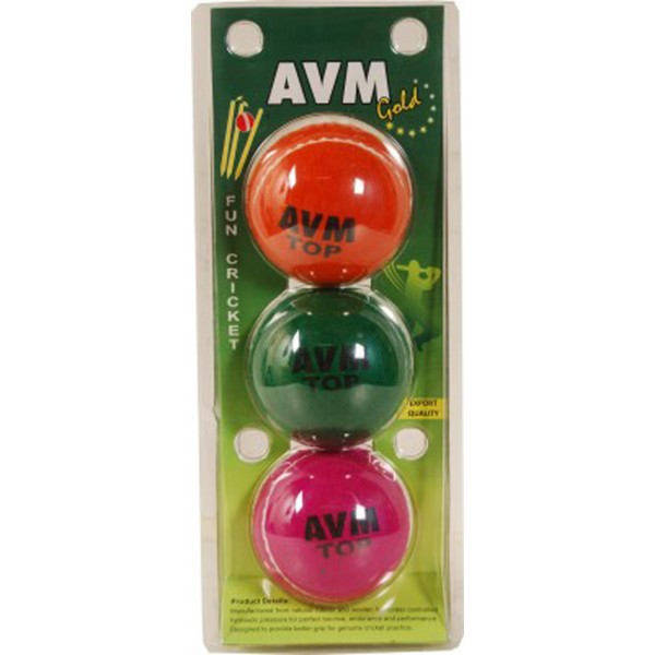 AVM Gold Cricket Tennis Ball (Pack of 3)