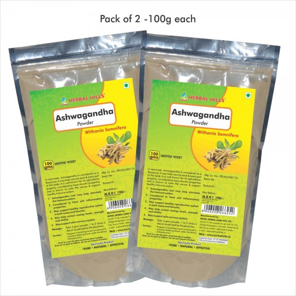 Herbal Hills Ashwagandha Powder 100 Gms