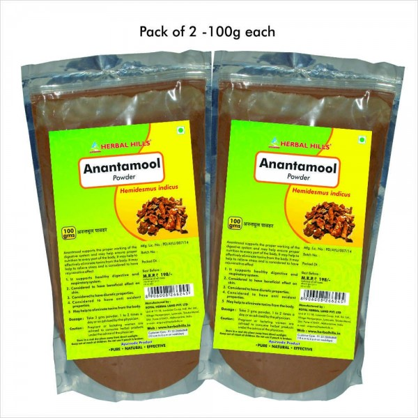 Herbal Hills Anantamool Powder 100 Gms