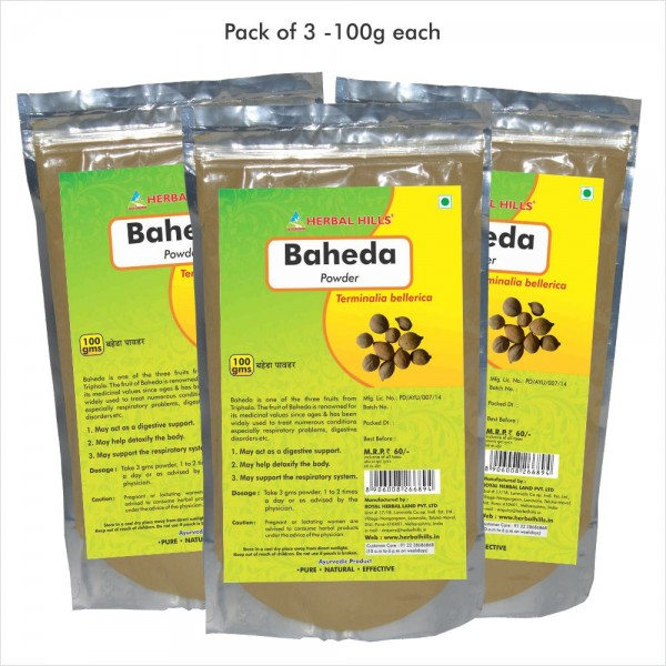 Herbal Hills Baheda Powder 100 Gms Powder