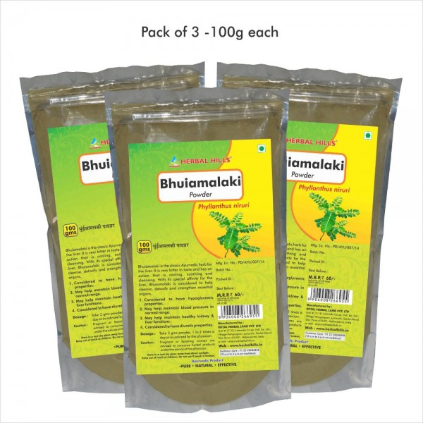 Herbal Hills Bhuiamlaki Powder 100 Gms Powder