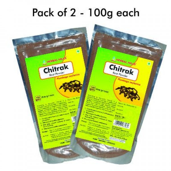 Herbal Hills Chitrak Root Powder 100 gms Pack of 2