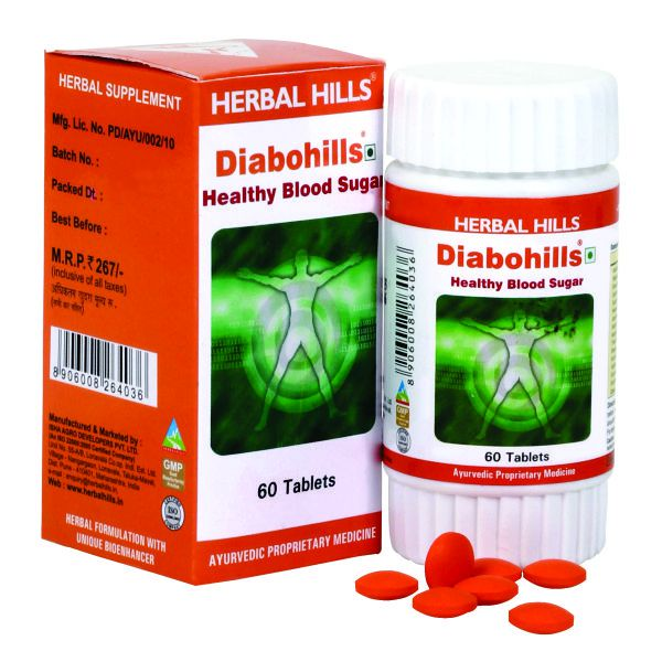 Herbal Hills Diabohills 60 Tablets