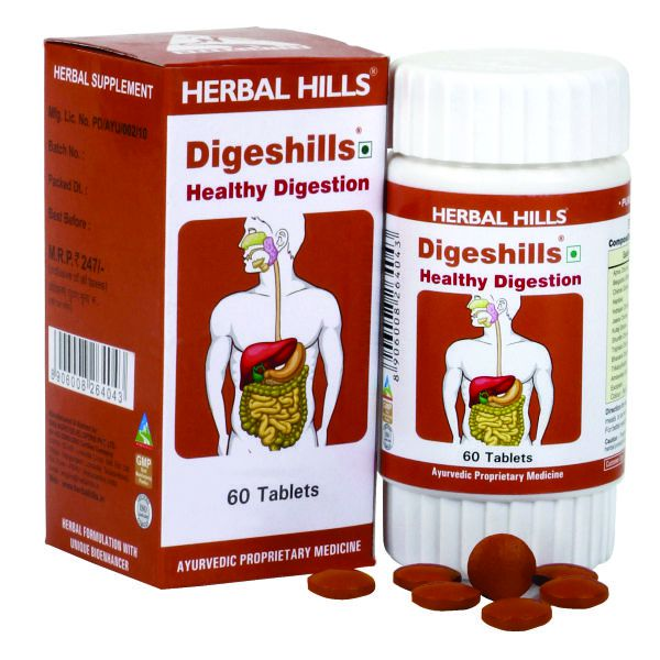 Herbal Hills Digeshills 60 Tablets