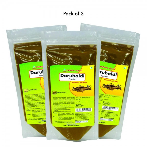 Herbal Hills Daru Haldi Powder 100 Gms Pack of 2