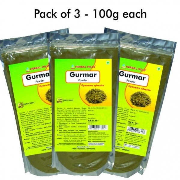 Herbal Hills Gurmar Powder 100 Gms Powder