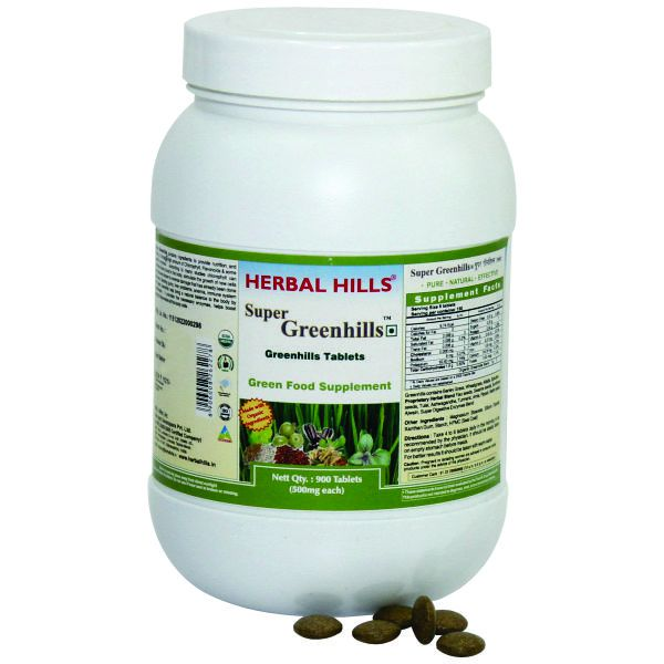 Herbal Hills Super Greenhills Value Pack 900 Tablets