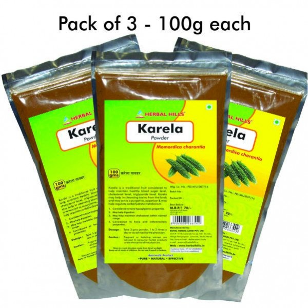 Herbal Hills Karela Powder 100 Gms Powder