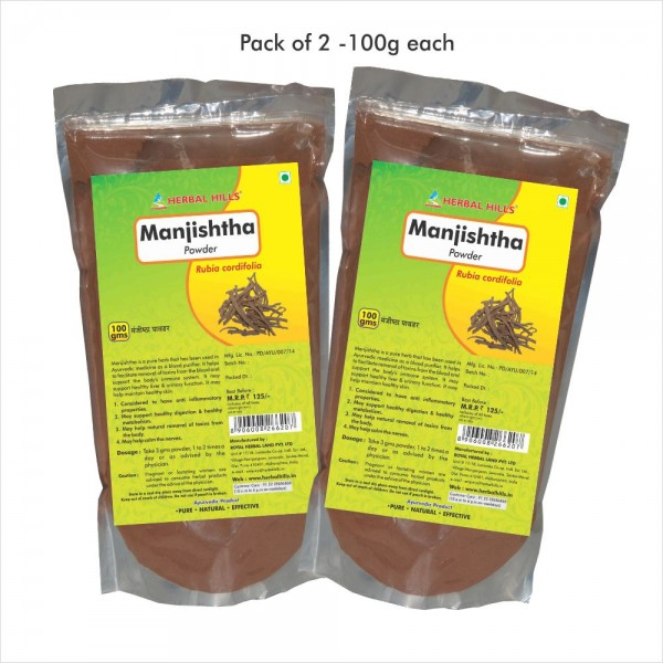 Herbal Hills Manjishtha Powder 100 Gms Powder