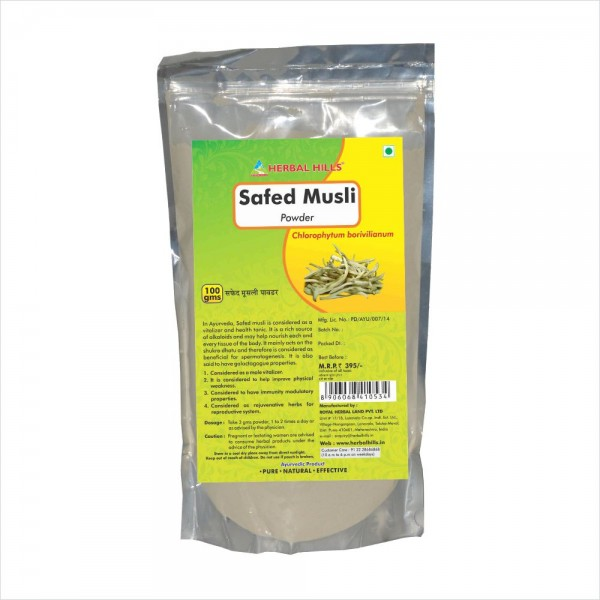 Herbal Hills Safed Musli Powder 100 Gms Powder