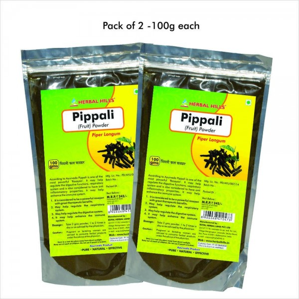 Herbal Hills Pippali Fruit Powder 100 Gms Powder