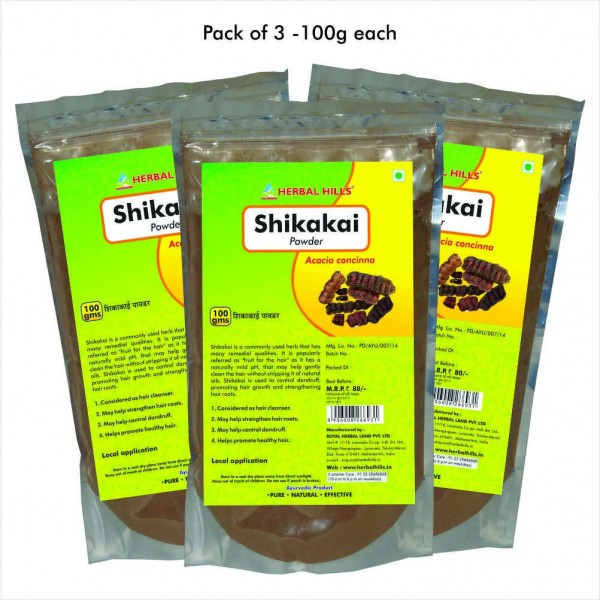 Herbal Hills Shikakai Powder 100 Gms Powder