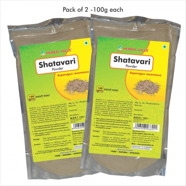 Herbal Hills Shatavari Powder 100 Gms Powder