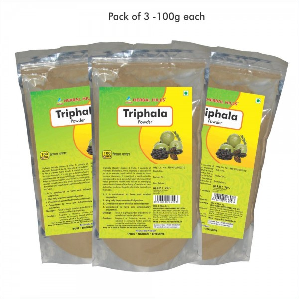 Herbal Hills Triphala Powder 100 Gms