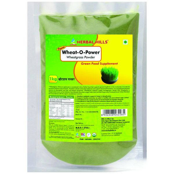 Herbal Hills WheatOPower 1 Kg (Value Pack) Powder
