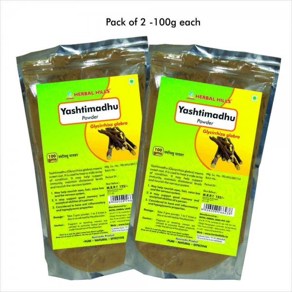 Herbal Hills Yashtimadhu Powder 100 Gms Powder