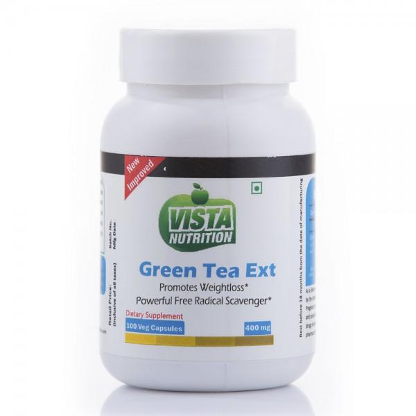 Vista Nutrition Green Tea Extract 400Mg-100 Capsules